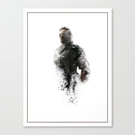 Metal Gear Solid Phantom Pain Digital Fan Art Ink-Blot Canvas Print