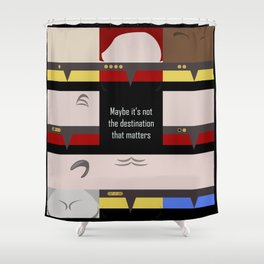 Maybe it's not the Destination that matters - square - Star Trek: Voyager VOY  trektangle minimalist Shower Curtain