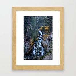 Evening Cascade (Kings Creek) Framed Art Print