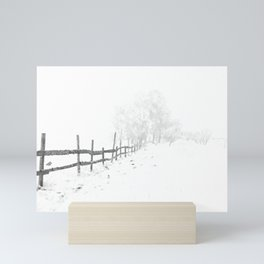 Fence and Snow Mini Art Print