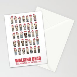 Walking Dead in a Winter Wonderland Stationery Cards