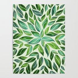 Spring Leaf Mandala Poster