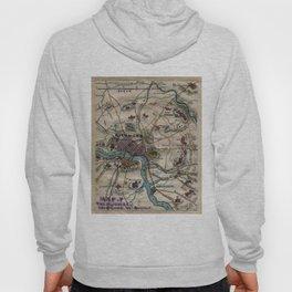 Vintage Richmond Virginia Civil War Map (1865) Hoody