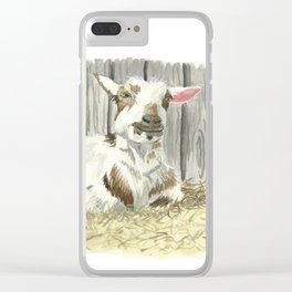 Goat in the Sunshine - Watercolor Clear iPhone Case