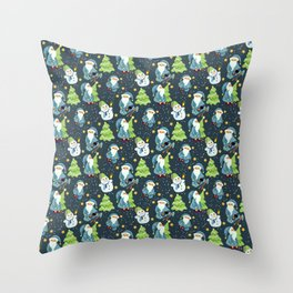 Christmas Winter Pattern Throw Pillow