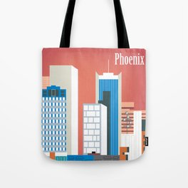 Phoenix, Arizona - Skyline Illustration by Loose Petals Tote Bag