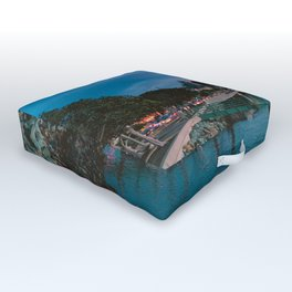 Moody sunset by Downtown San Diego Outdoor Floor Cushion