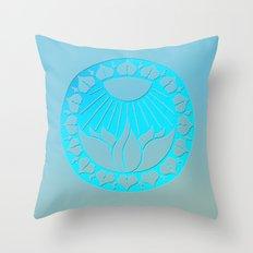 iliahni woodcut print Throw Pillow