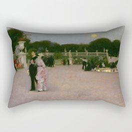 Luxembourg in the Moonlight, Paris landscape by John Singer Sargent Rectangular Pillow