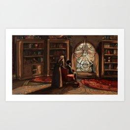The Gifts of Darkness - Reading books Art Print
