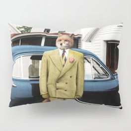 Mr. Fox posing with his new car Pillow Sham