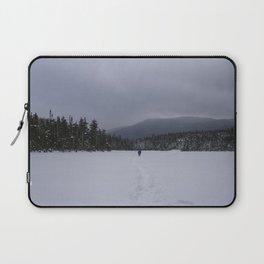 Snowshoeing Across Lonesome Lake - NH Laptop Sleeve
