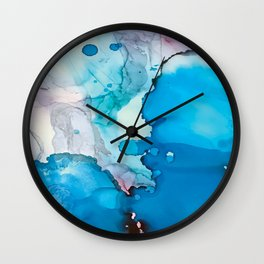Drops of Blue Wall Clock