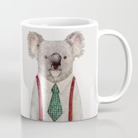 koala Mugs featuring Koala by Animal Crew