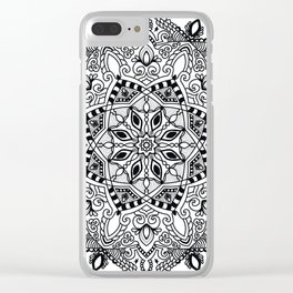 Project 290 | Black and White Mandala Clear iPhone Case
