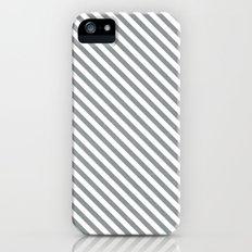 diagonal stripes - gray iPhone (5, 5s) Slim Case