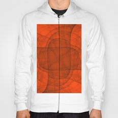 Fractal Eternal Rounded Cross in Red Hoody