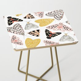 Moth's Diverse Beauty Pattern Side Table