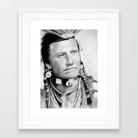 native american Framed Art Prints featuring Native American by chomaee