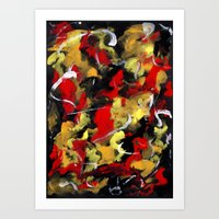Rose Red Abstract Art Print