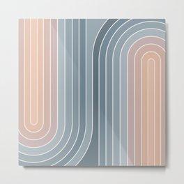 Gradient Curvature V Metal Print