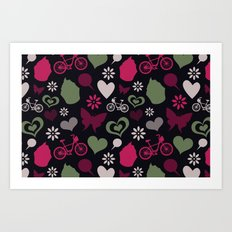 I Heart Patterns #008 Art Print