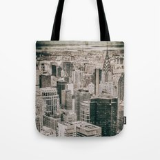 New York City buildings (Old plate camera) Tote Bag
