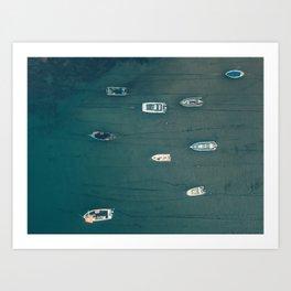 Boats In Salcombe Art Print