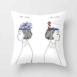 The Chaos and The Calm Throw Pillow
