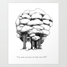 Me Neighbor Totoro Art Print