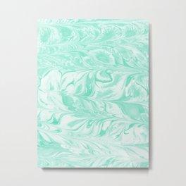 Umeko - spilled ink marble paper marbling art  painting abstract swirl water ocean landscape map Metal Print