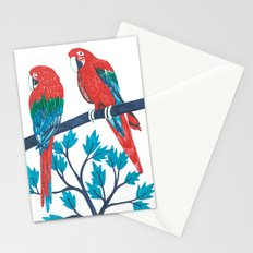 Red Parrots Stationery Cards