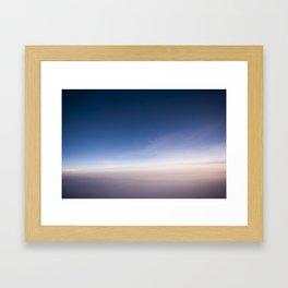 silent morning above Java Framed Art Print