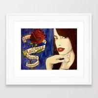 aaliyah Framed Art Prints featuring Aaliyah by DeMoose_Art