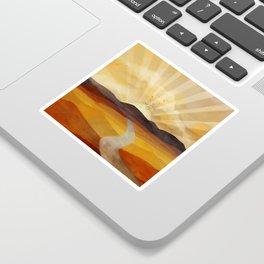 Desert in the Golden Sun Glow II Sticker