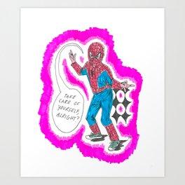 KID SPIDER Art Print