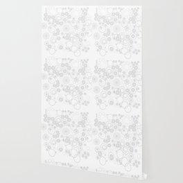 Dotty White Wallpaper