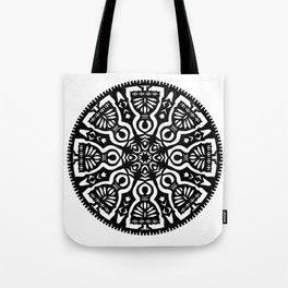 Polish Papercut Dancers Black Tote Bag