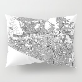 Lima White Map Pillow Sham