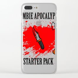 Zombie apocalypse - starter pack Clear iPhone Case