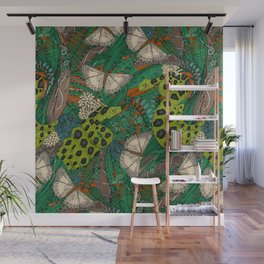 entangled forest rust Wall Mural