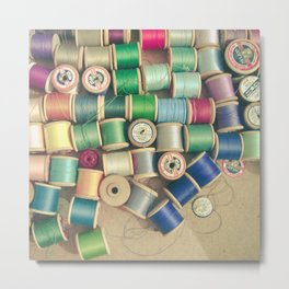 Cotton Reels Metal Print
