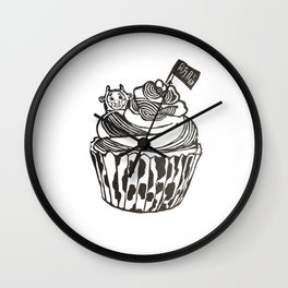 the cake in the story of body fat Wall Clock