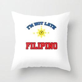 Funny Filipino Time Throw Pillow