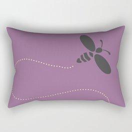 Purple Bee Buzz Rectangular Pillow