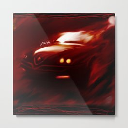 Flaming Alfa Gtv 916 Metal Print