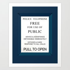 Doctor Who (Tardis Door) Police Box Art Print