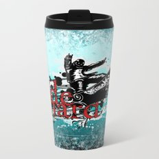 ride hard - snow Metal Travel Mug