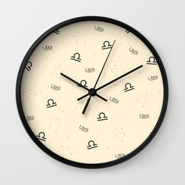 Libra Pattern - Beige Wall Clock