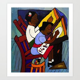 African American Masterpiece 'Art Class' by William Henry Johnson Art Print